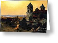 Santa Barbara Mission Greeting Card by Pg Reproductions