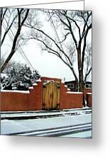 Santa Fe Residential Street Scene Greeting Card by Diana Dearen