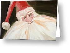 Santa Greeting Card by Hil Hawken
