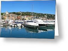 Santa Margherita Ligure Panoramic Greeting Card by Adam Romanowicz