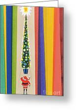 Santa's Christmas Tree Greeting Card by Stanley Cooke
