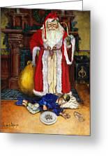 Santas Littlest Helper Greeting Card by Jeff Brimley