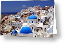 Santorini Island. Greeting Card by Fernando Barozza