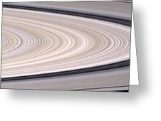 Saturns Ring System Greeting Card by Stocktrek Images