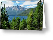 Sawtooth Serenity II Greeting Card by Greg Norrell