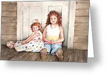 Sayler And Tayzlee Greeting Card by Sam Sidders