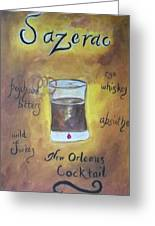 Sazerac Greeting Card by Marian Hebert