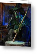 Scary Old Witch Greeting Card by Oleksiy Maksymenko