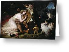 Scene From A Midsummer Night's Dream Greeting Card by Sir Edwin Landseer