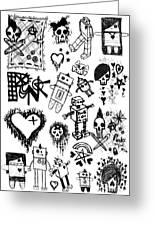 Scene Kid Sketches Greeting Card by Roseanne Jones