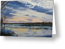 Scenic Overlook - Delaware River Greeting Card by Lea Novak