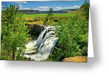Scenic White River Falls Greeting Card by Connie Cooper-Edwards
