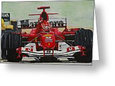 Schumacher Wins Greeting Card by Terry Gill