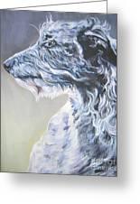 Scottish Deerhound Greeting Card by Lee Ann Shepard