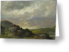 Scottish Landscape Greeting Card by Gustave Dore
