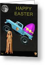 Scream Monster Trucks Greeting Card by Eric Kempson