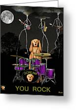 Scream Rock Soul Greeting Card by Eric Kempson