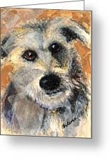 Scruffy Greeting Card by Arline Wagner