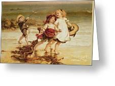 Sea Horses Greeting Card by Frederick Morgan