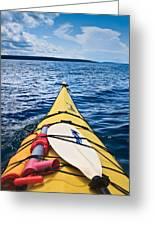 Sea Kayaking Greeting Card by Steve Gadomski