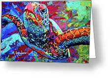 Sea Turtle Greeting Card by Maria Arango