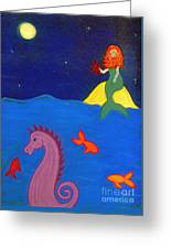 Sea Wishes Greeting Card by Christine Crosby