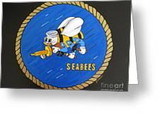 Seabees Greeting Card by JoAnn Wheeler