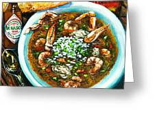 Seafood Gumbo Greeting Card by Dianne Parks
