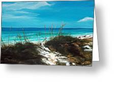 Seagrove Beach Florida Greeting Card by Racquel Morgan