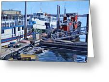 Seaport Ave Greeting Card by Deb Putnam
