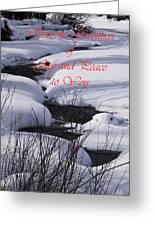 Seasons Of Joy And Peace Greeting Card by Daniel Hebard