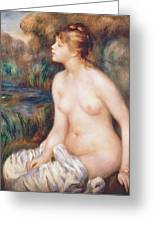 Seated Female Nude Greeting Card by Renoir