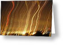 Seattle Burning At Night Greeting Card by Silvie Kendall