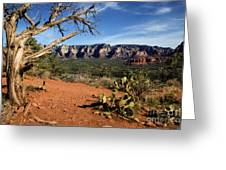 Sedona Overlook Greeting Card by Jon Burch Photography