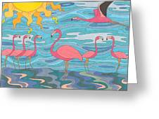 Seeing Pink Greeting Card by Pamela Schiermeyer