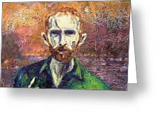 Self Portrait Greeting Card by John  Nolan