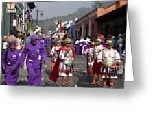 Semana Santa Procession I Greeting Card by Kurt Van Wagner