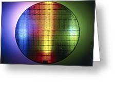Semiconductor Wafer Greeting Card by Pasieka