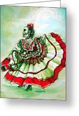 Senora De La Noche Greeting Card by Heather Calderon