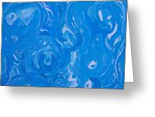 Sensuous Blue Greeting Card by Judith Redman