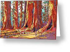 Sequoia Deer Greeting Card by Nadi Spencer