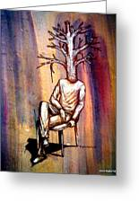 Series Trees Drought 2 Greeting Card by Paulo Zerbato
