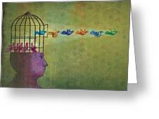 Set Them Free Greeting Card by Dennis Wunsch