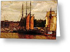 Setting Sail From Bristol Greeting Card by Brian Roscorla