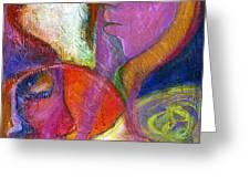 Seven Faces Greeting Card by Claudia Fuenzalida Johns
