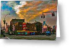 Seventh And Bleeker At Sunrise Nyc Greeting Card by Chris Lord