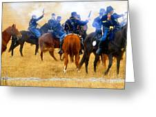 Seventh Cavalry In Action Greeting Card by David Lee Thompson