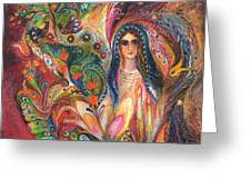 Shabbat Queen Greeting Card by Elena Kotliarker