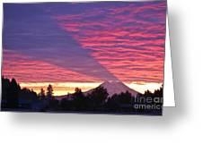 Shadow Of Mount Rainier Greeting Card by Sean Griffin