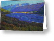 Shadow On The Rees Greeting Card by Terry Perham